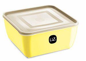 Pote Multiuso Premium Quadrado 2,5 Litros Amarelo Claro Sólido