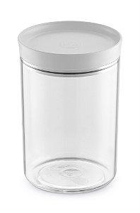 Porta Mantimento 1,4 Litros Transparente C/ Tampa Branco