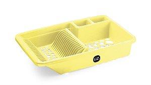 Escorredor de Louça Amarelo Claro Sólido