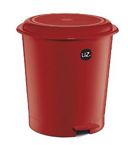 Lixeira Plus 12 Litros Vermelho Sólido