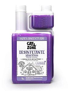 Xô Bactérias Desinfetante Concentrado Lavanda Cat Zone 1 Litro