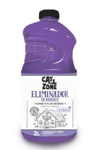 Eliminador de Odores Xô Bactérias Lavanda Cat Zone 2 Litros
