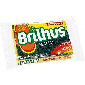 ESPONJA BRILHUS MULTIUSO PACOTE 10 UNIDADES - BETTANIN -