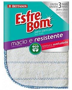PANO ESFREBOM ALGODÃO CRU P/ PIA 03 UNIDADES- BETTANIN