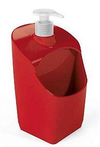 Dispenser C/ Suporte para Esponja Vermelho Sólido
