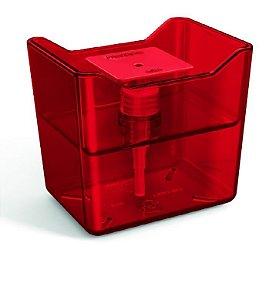 Dispenser Premium Vermelho Translúcido