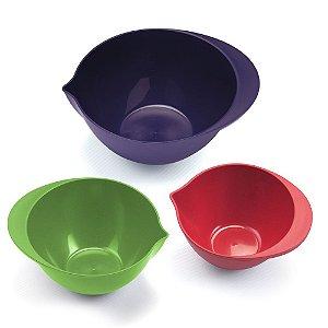 Conjunto Com 03 Bowls  - Ece - Dasplast -