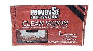 CLEAN VISION LENÇO UMEDECIDO PARA PARA-BRISAS 8ML - PROVEMSE
