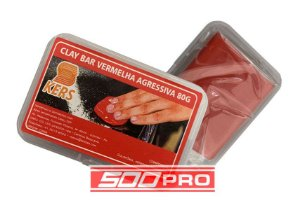 Clay Bar Vermelha Agressiva Kers 80g