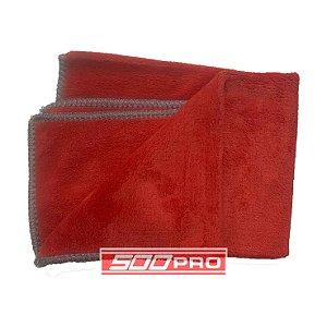 Toalha de Microfibra Wax Vermelha 64GSM (40x40) by SGCB