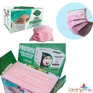 Máscara Tripla Elástico Protdesc 50un