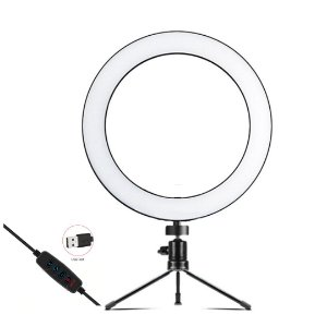 Ring Light Usb Led com Tripe de Mesa