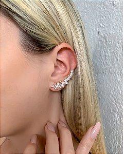 EAR CUFF DOURADO COM PEDRA CRISTAL FOGGY