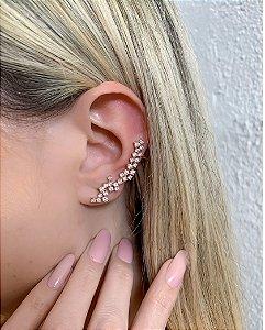 EAR CUFF DOURADO COM PEDRA CRISTAL SACKS