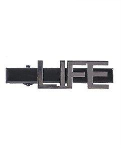 Presilha de metal preto e grafite Life
