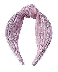 Tiara de tecido rosa Paula
