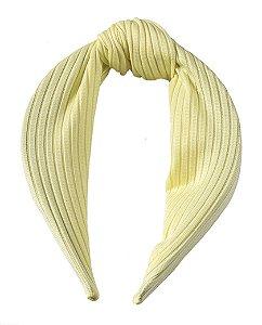 Tiara de tecido amarelo Paula