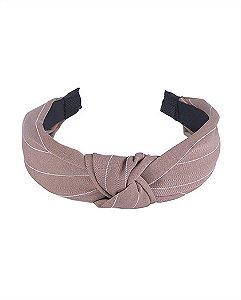 Tiara de tecido marrom yohanna