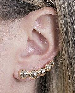 Ear cuff de metal dourado angelica