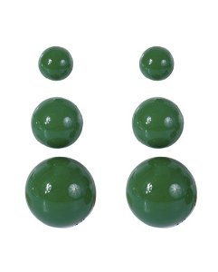 Kit 3 pares de brincos de acrílico verde anne
