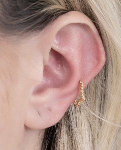 Piercing fake dourado cimba