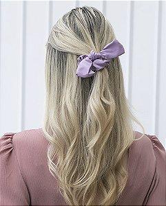 Laço de tecido lilás dallas