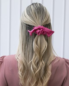 Laço de tecido pink dallas