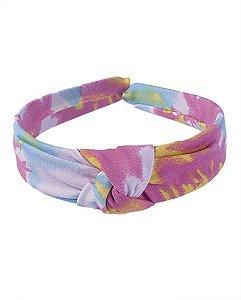 Tiara de tecido tie dye 6