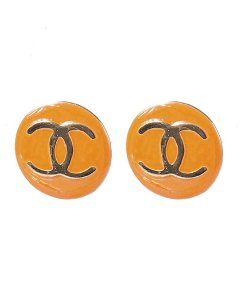 Brinco pequeno dourado e laranja diddy