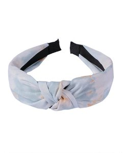 Tiara de tecido tie dye azul malfis