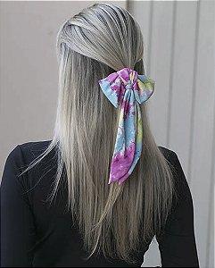 Laço de tecido tie dye yas