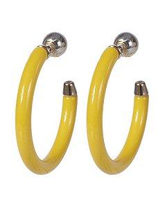 Argola de acrílico amarelo glock