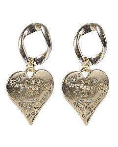 Brinco dourado hearts