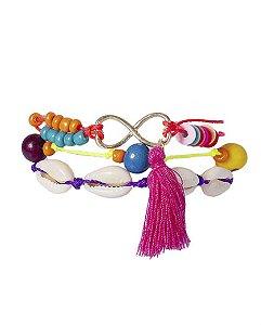 Kit 3 pulseiras coloridas yasmin