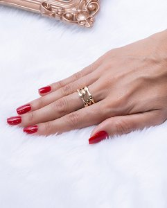 Kit anel dourado gats