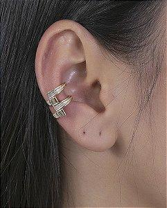 Piercing fake dourado celik