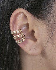 Piercing fake dourado mikael