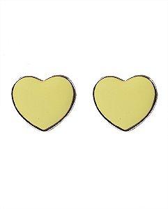 Brinco pequeno dourado e amarelo nika