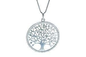 Colar com Pingente Mandala Árvore da Vida