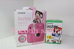 Câmera instantânea Fujifilm Instax Mini 9 Azul Aqua + Pack 20 fotos