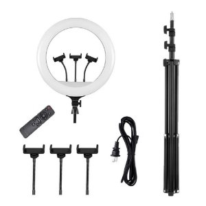 Iluminador Led Ring Light 18  Bicolor com tripe e controle