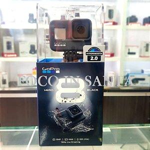 Filmadora Gopro Hero 8 Black, 4k 60, Wi-fi Pronto Entrega/32 gb e Bastão 3 ways