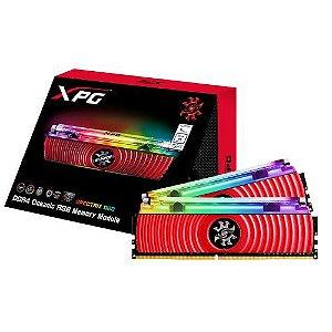 Memória Adata Xpg Spectrix D80 Rgb 8gb 3000mhz Ddr4 Vermelha