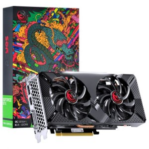 PLACA DE VIDEO NVIDIA GEFORCE GTX 1660 OC DUAL-FAN GDDR5 6GB 192 BITS - GRAFFITI SERIES - PPOC166019206G5