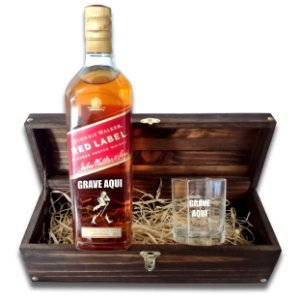 Kit Whisky Personalizado - Red Label