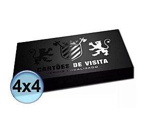 Cartão de visita 4x4  Verniz Localizado Frente e verso