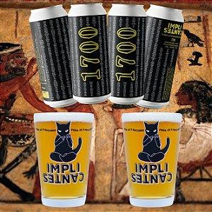 [8 latões] 1700 Blonde Ale e 2 Copos Caldereta