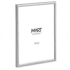Porta-Retrato Mart Prata Em Metal - 10x15