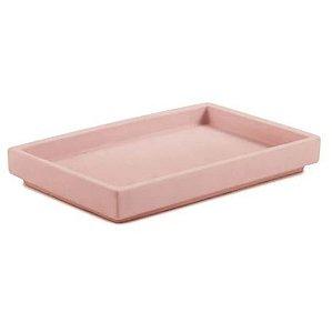 Bandeja Mart Rosa Em Cimento - 28x4x 18cm