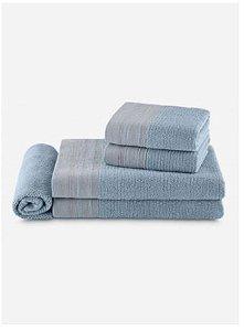 Jogo De Banho By The Bed 100% Algodão - 5 Peças - Azul - Vogue